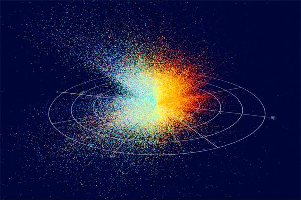 Estrelas do quinto lançamento de dados RAVE