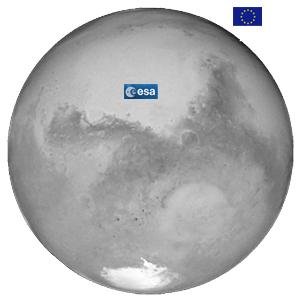 Marte tem dupla presença europeia. No solo por poucos dias, e em órbita por muito tempo.