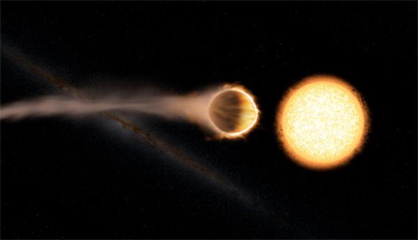 WASP-121b - ilustração.