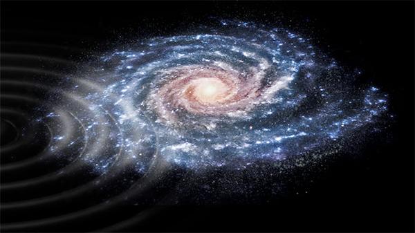 Perturbação nas estrelas da Galáxia.