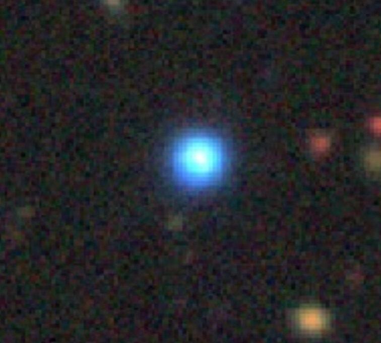 Quasar frio - azul - óptico.