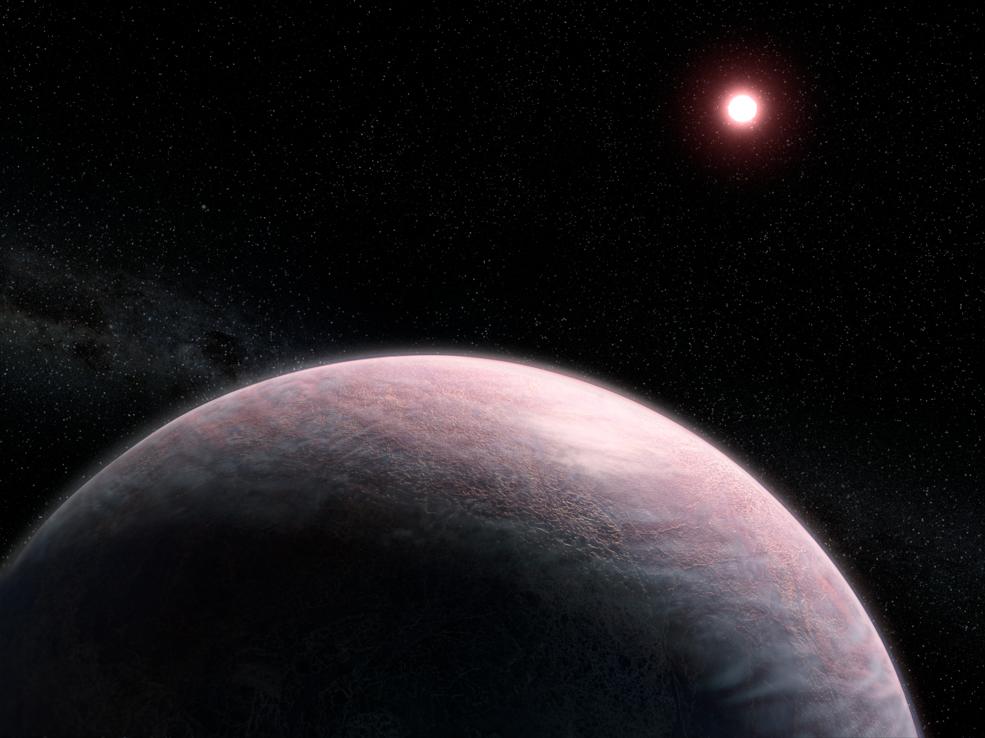 Exoplaneta com atmosfera - ilustração.