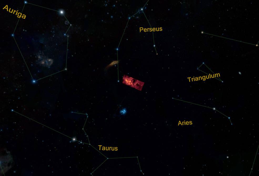 Localização da Nuvem Molecular de Perseus