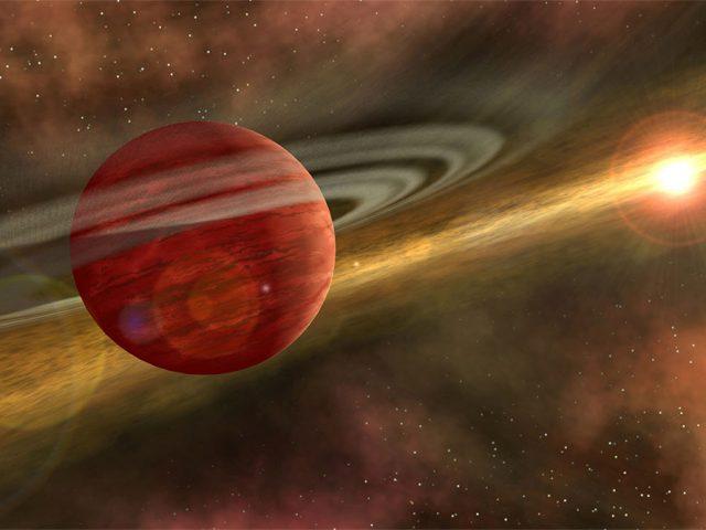 Descoberto planeta massivo recém-nascido a apenas 330 anos-luz