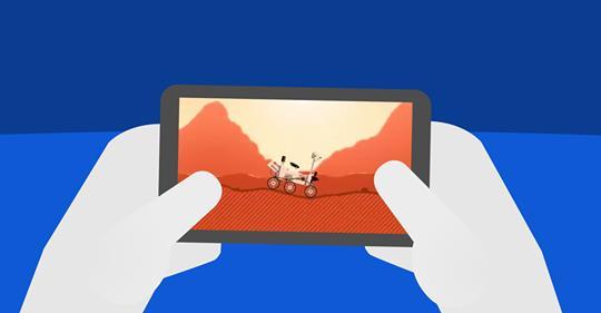 """""""Conduzir"""" um rover em Marte"""