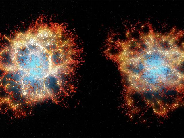 """Espetacular """"coração favo de mel"""" revelado em emblemática explosão estelar"""