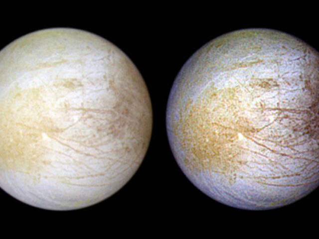 Hubble descobre sinais de vapor de água persistente num hemisfério de Europa